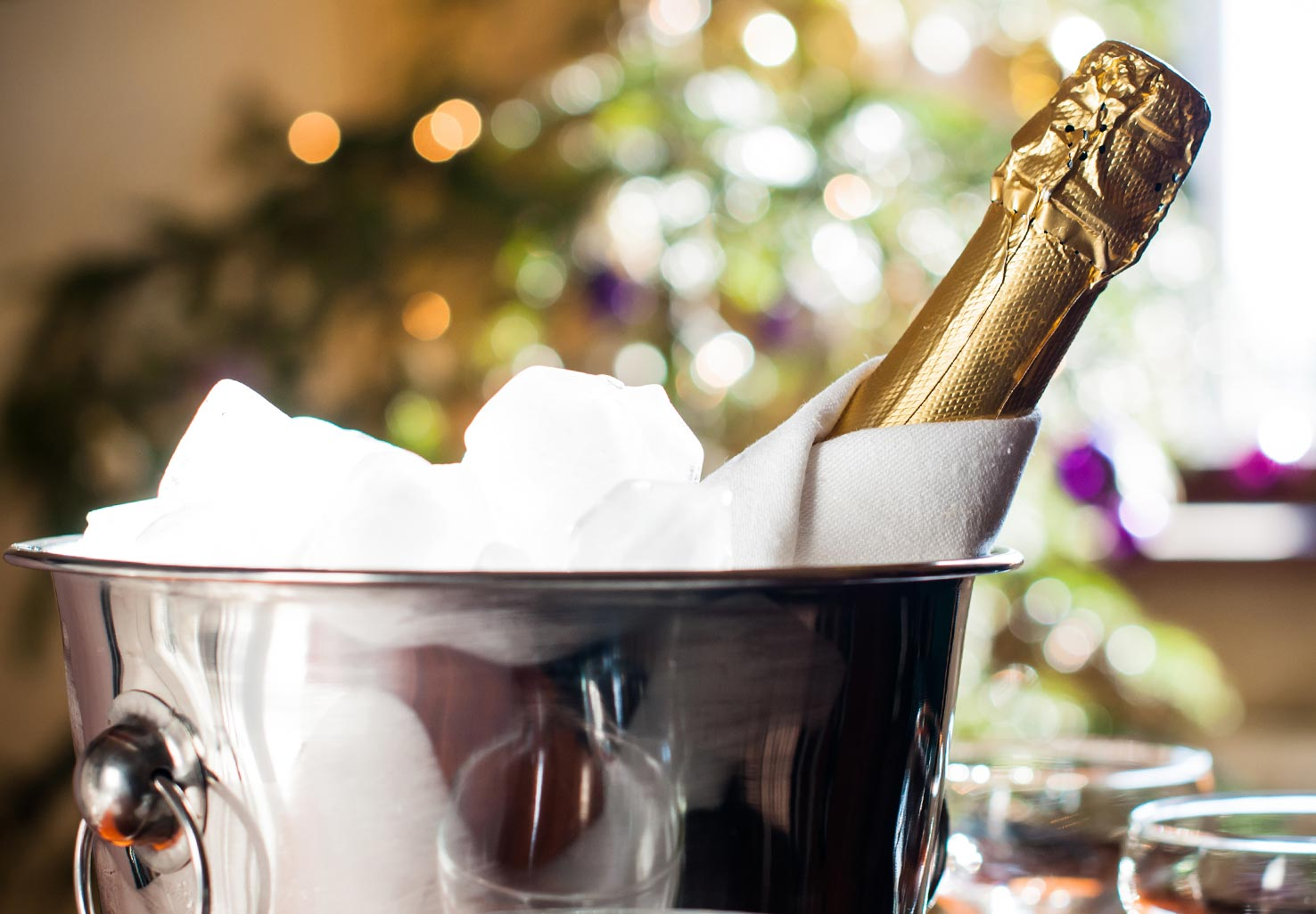 Bottle of Champagne in a bucket of ice