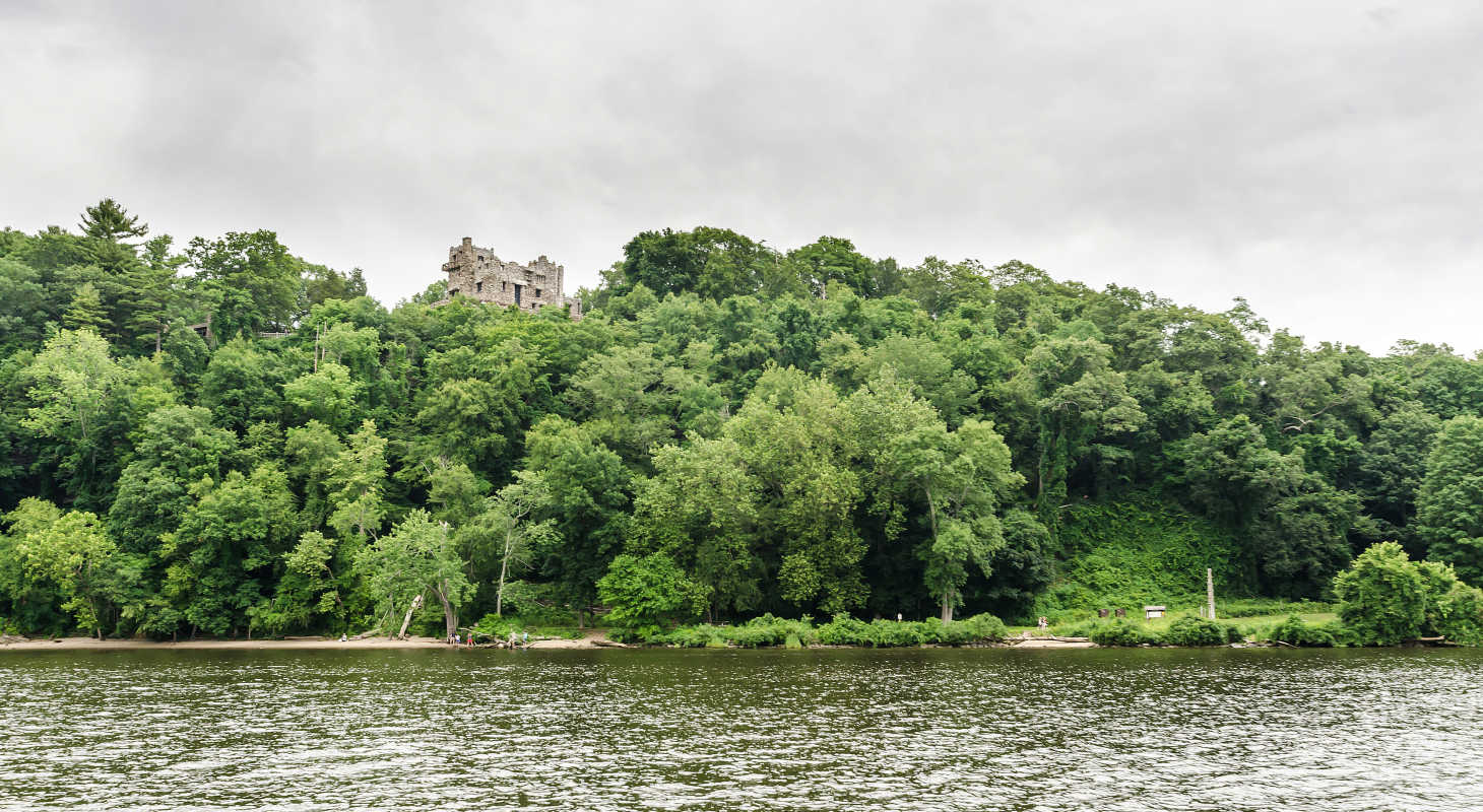 Gillette Castle from river