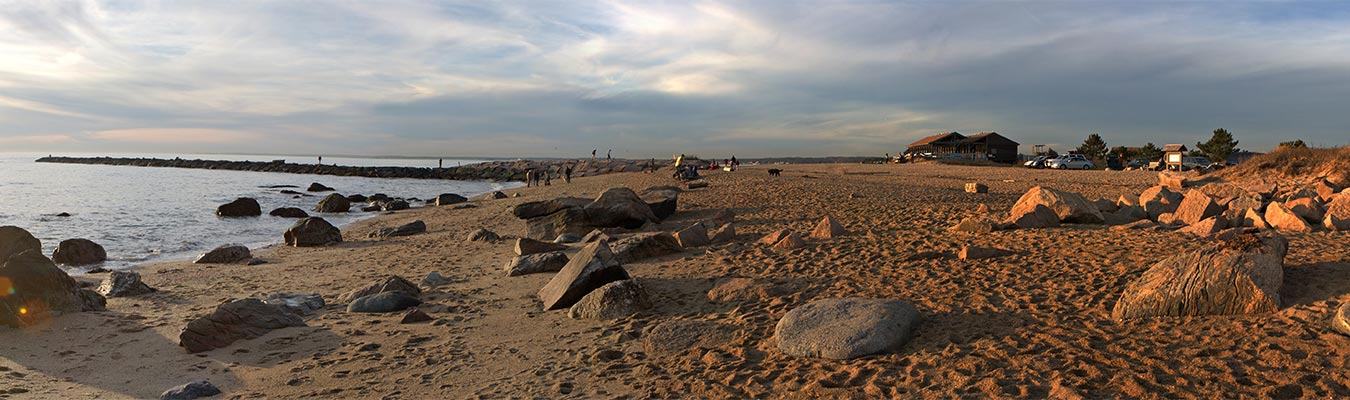 Panorama of Hammonasset beach